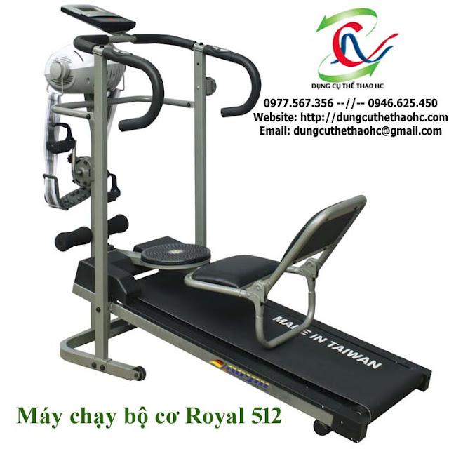 Máy chạy bộ cơ 5 chức năng điều chỉnh ROYAL 512