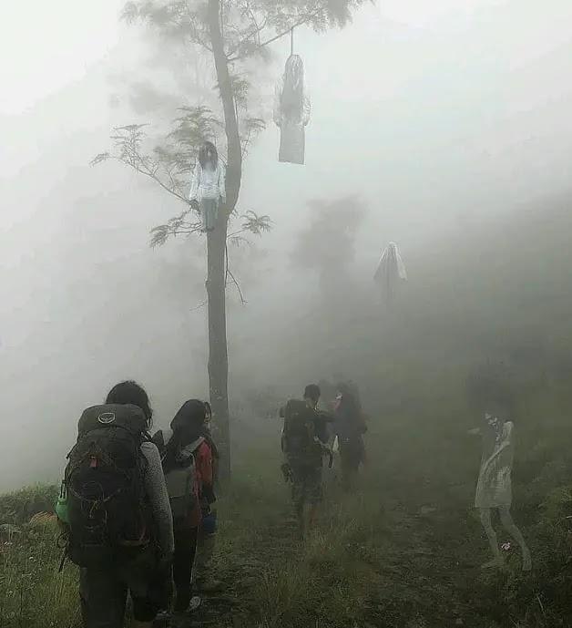 derita pendaki diganggu penunggu gunung - foto instagram pacartertawa