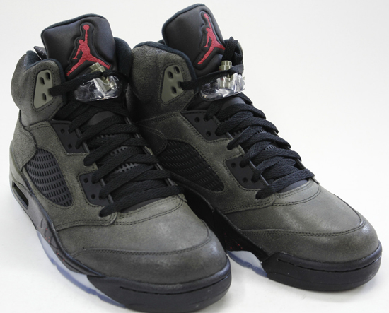 more photos 1ee9c 36f0f This Air Jordan 5 Retro QS comes in a sequoia, fire red, medium olive and  black colorway. A part of the