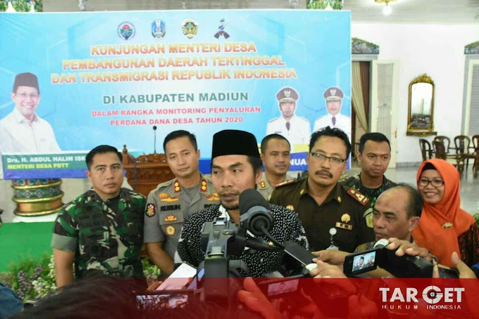 Dandim 0803 Madiun Dampingi Kunker Kementrian Desa PDTT di Kab. Madiun