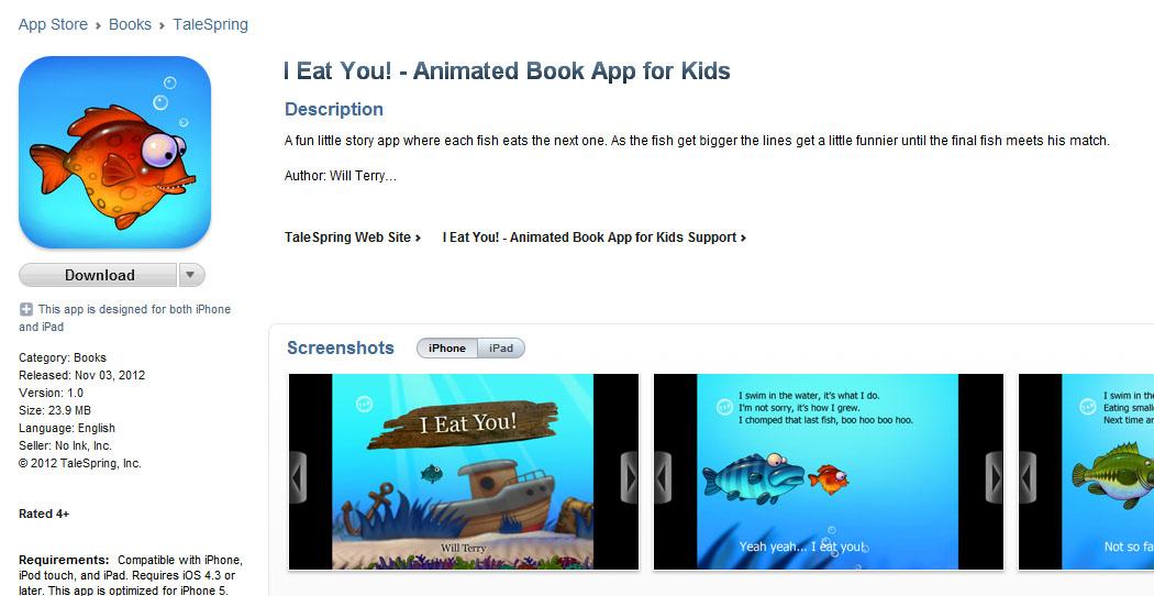 Will Terry - Children's Book Illustrator: My New Story App - I Eat