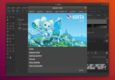 Install Krita 4.2.6 on Ubuntu / Linux Mint with PPA