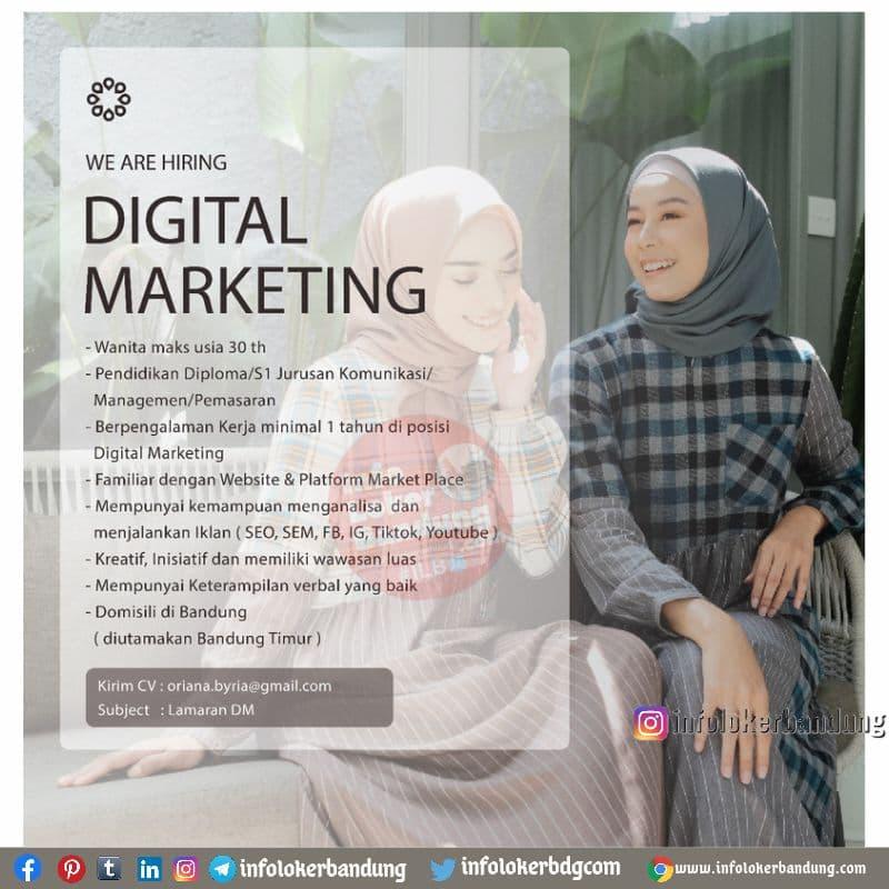 Lowongan Kerja Digital Marketing Oriana Boutique Bandung Juli 2021