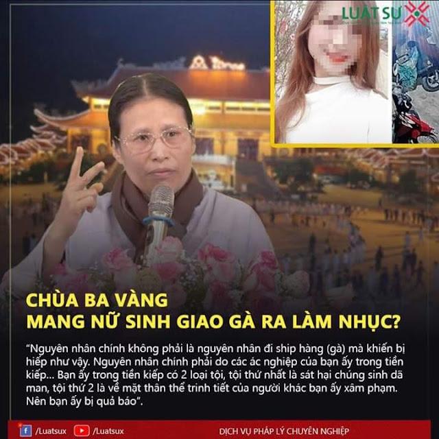 Người nhà chùa Ba Vàng dùng cái chết cô gái ship gà để hù dọa, tăng thu cho dịch vụ