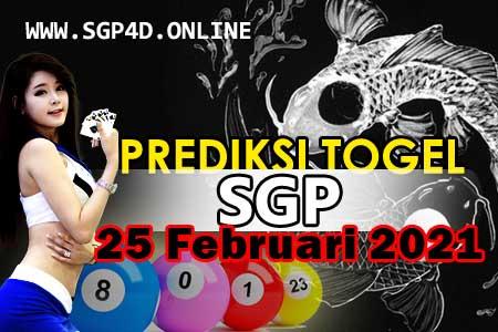 Prediksi Togel SGP 25 Februari 2021