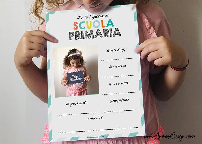 1° giorno scuola la scheda sa stampare
