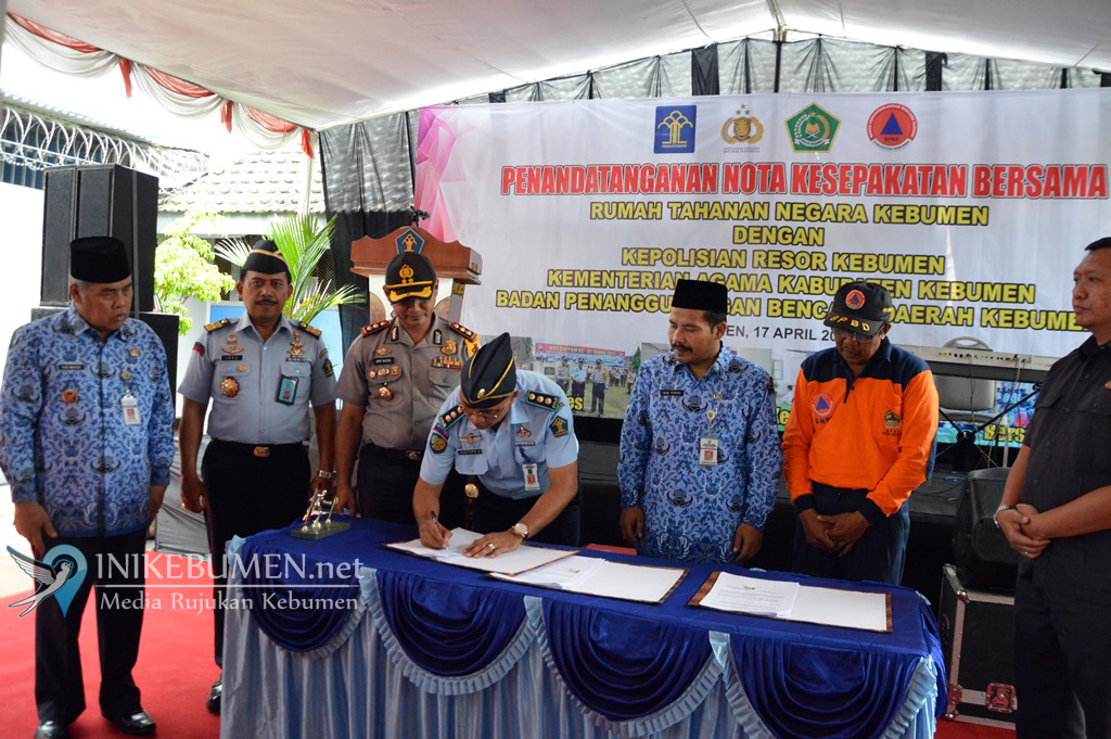 Tingkatkan Pembinaan Warga Binaan, Rutan Kebumen Jalin Kerjasama dengan 3 Institusi Sekaligus