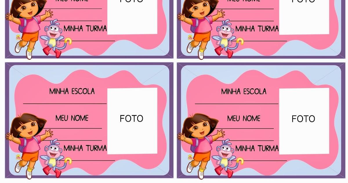 Crachás Para Imprimir Grátis Dora Aventureira