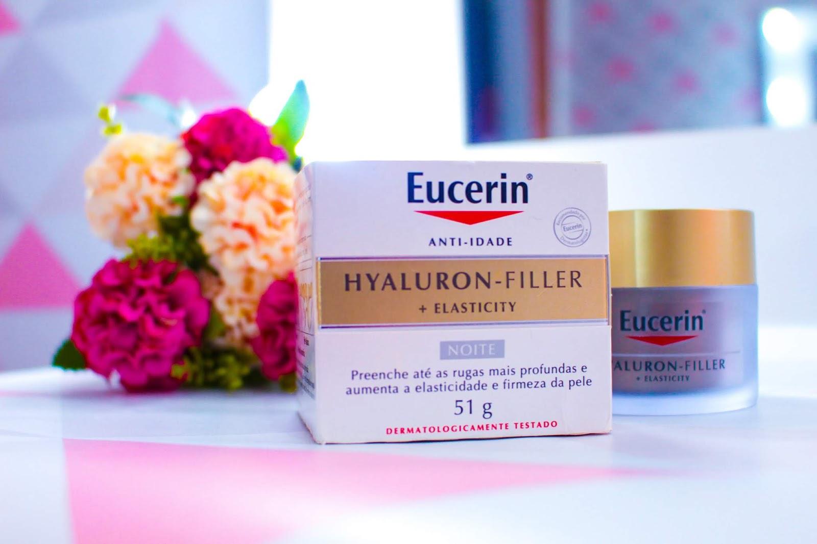 Resenha Anti Idade Eucerin Hyaluron Filler Elasticity Noite