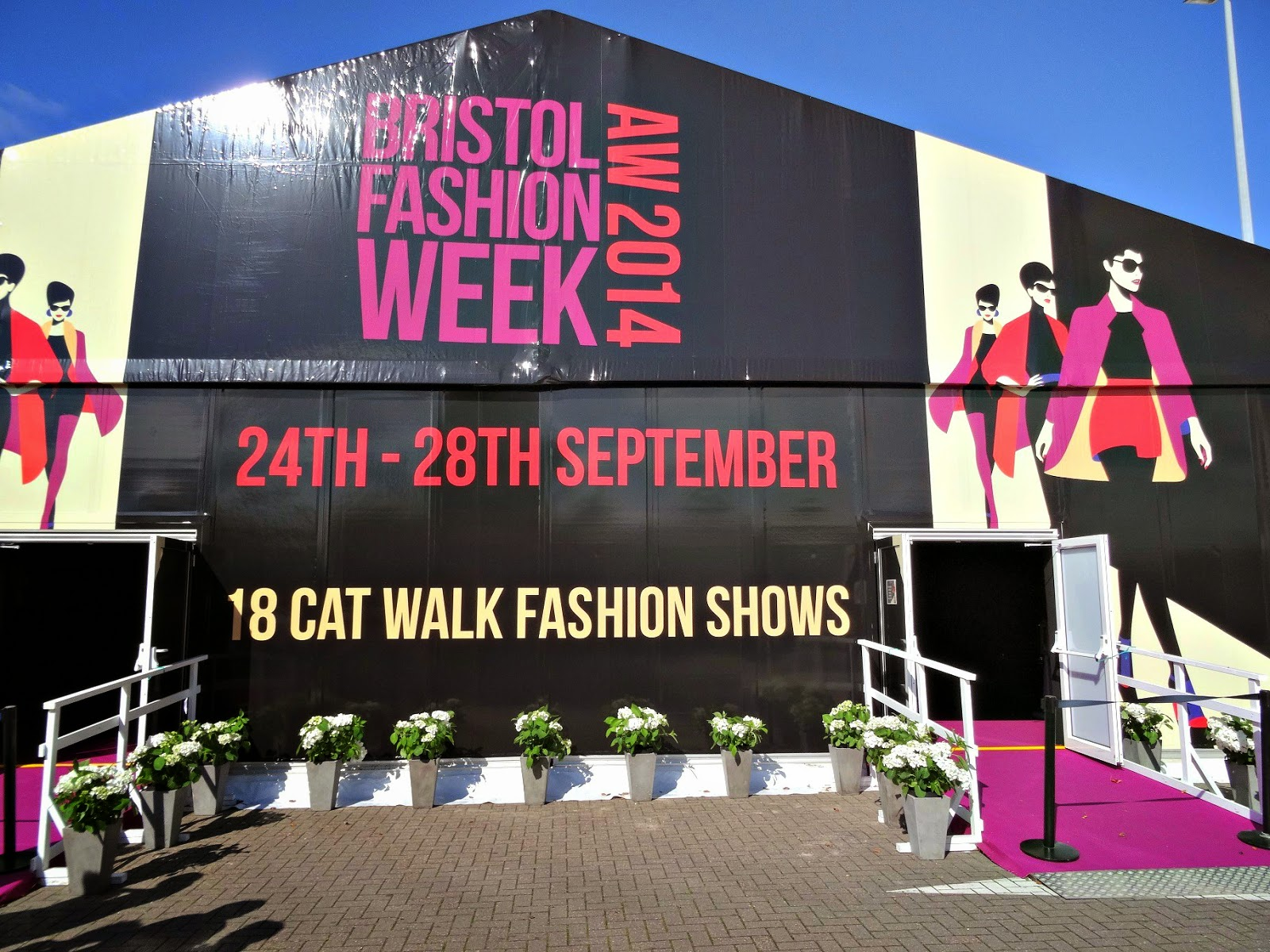 Bristol Fashion Week tent at the mall