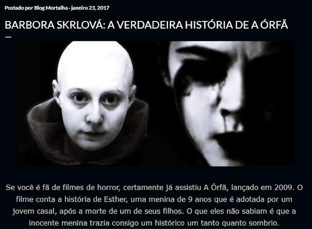 Barbora Skrlová - Killer inspired movie Orphan