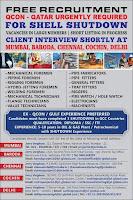 Free Recruitment | Qcon Qatar Shell Shutdown