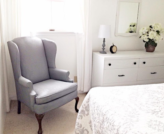 How I Painted a Fabric-Covered Wingback Chair