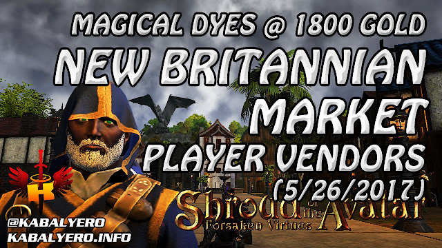 New Britannian Market, Magical Dyes @ 1800 (5/26/2017)