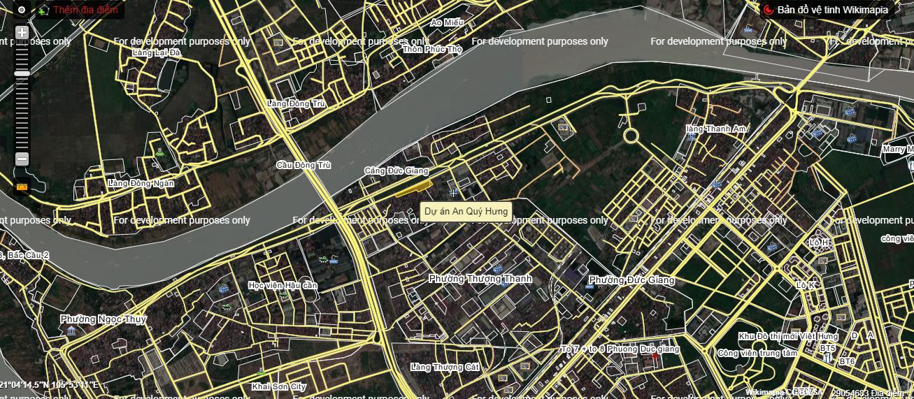 Vị trí AQH Riverside trên bản đồ vệ tinh.