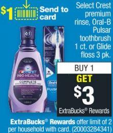 Crest Mouthwash CVS Deal $0.29 84-810