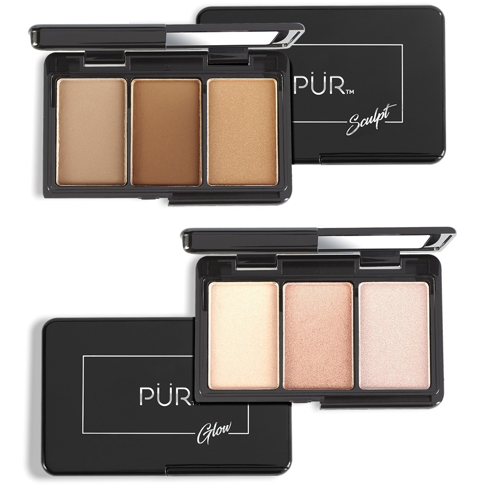 PUR Cosmetics Quick Pro Portables Sculpt & Glow On-the-Go Contour and Highlight Palettes