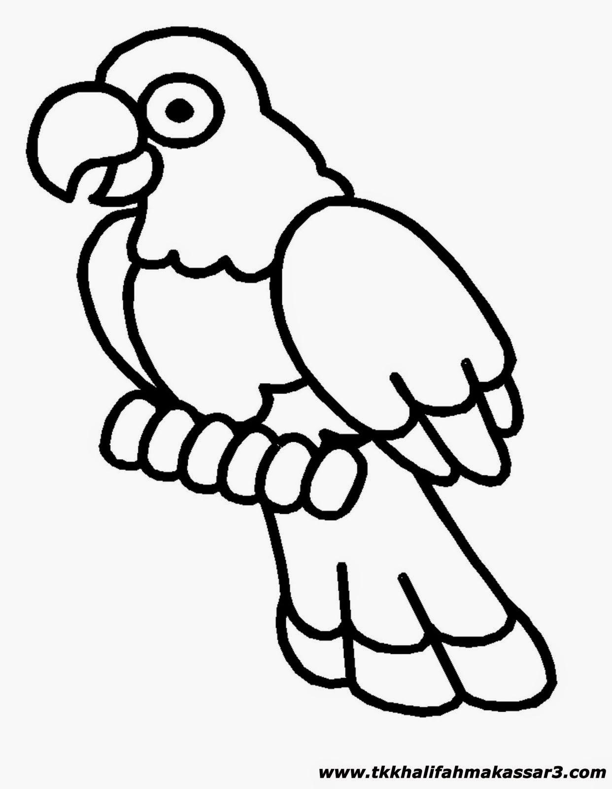 Mewarnai Burung Kakak Tua