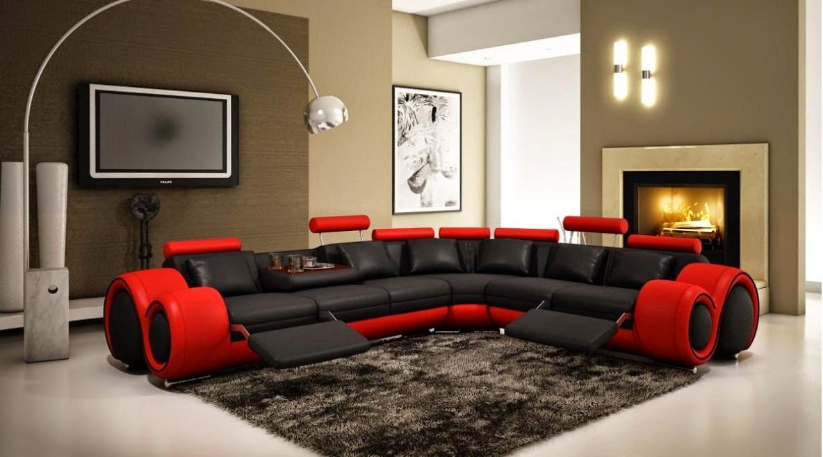 Reclining sofa sets sale red reclining living room sets - Red and black living room set ...