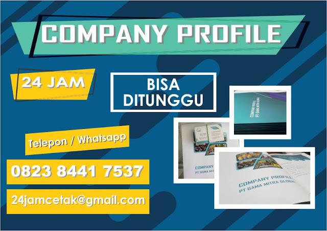 jasa cetak company profile 24 jam