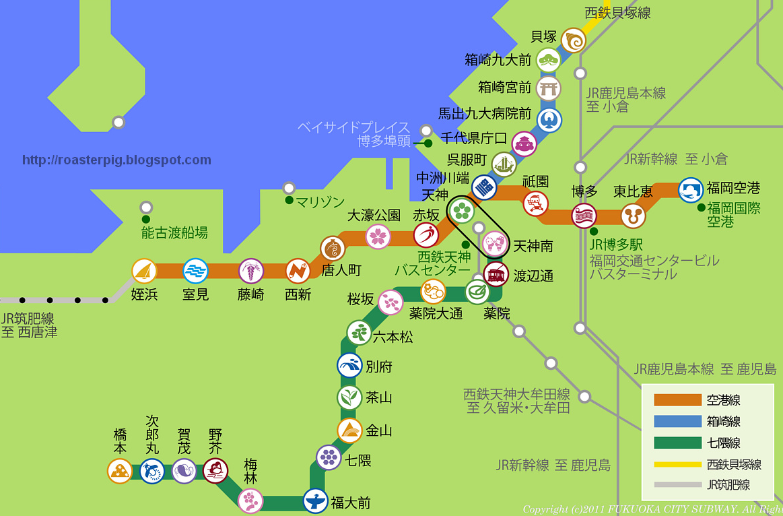 福岡地鐵路線圖