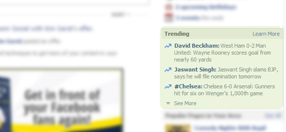 "Facebook Rolls out ""Trending Stories"""
