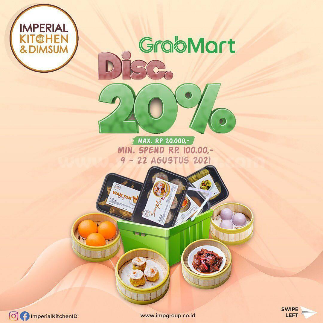 Promo Imperial Kitchen - Beli Frozen Dimsum Diskon 20% via GrabMart