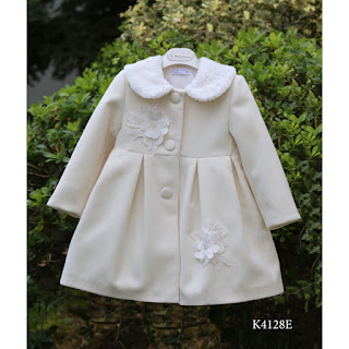 christening coat with fur for girls