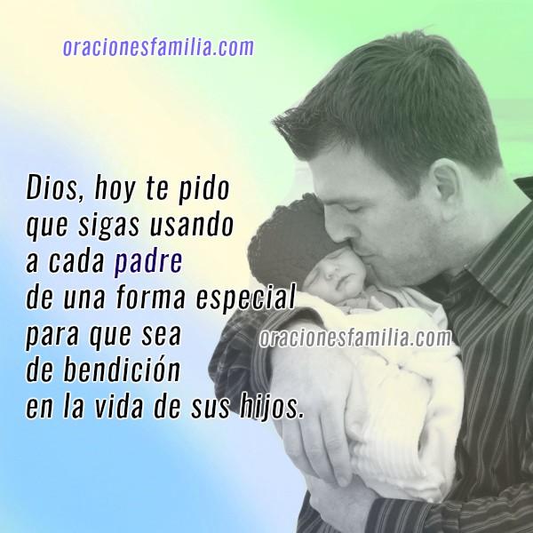 Oración Cristiana por los Padres. Imágenes con oraciones por los papás, frases cristianas de oraciones familia por Mery Bracho.