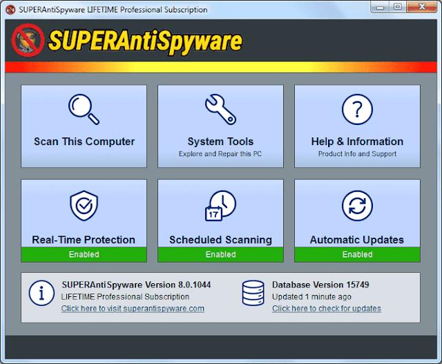 Screenshot SUPERAntiSpyware Professional 8.0.1044 Full Version