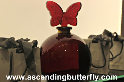 @Sniffapalooza @AnnickGoutalUS Night Birds Holiday Celebration! #Scent #Perfume #Luxury #Fragrance #HolidayParty, Large Ruby Butterfly Perfume Bottle