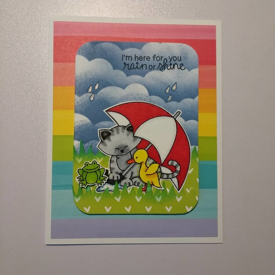I'm here for you rain or shine by Green-Eyed Goddess features Newton's Rainy Day by Newton's Nook Designs; #newtonsnook