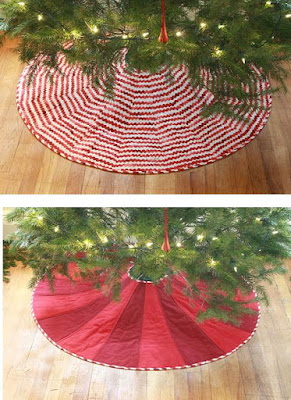 merry go round tree skirt hexagon with border print free pattern by karen snyder as seen at all people quilt