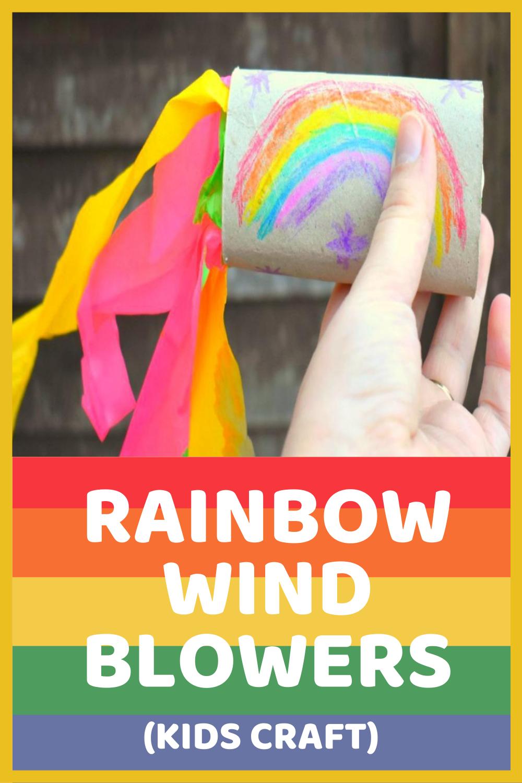Rainbow Wind Blowers Craft
