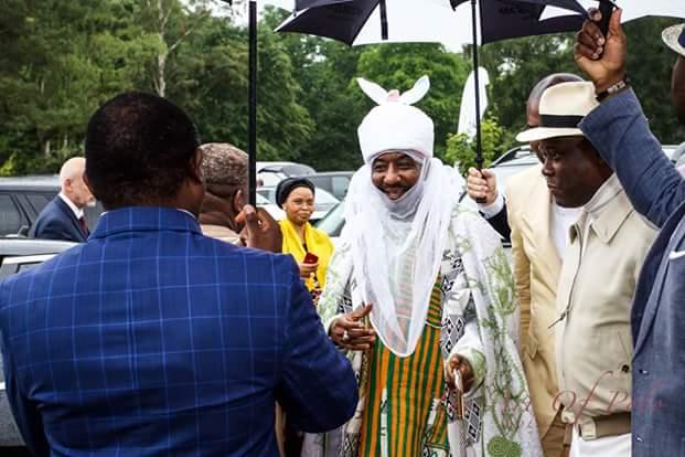 Photos: Emir of Kano, wife, children, Aliko Dangote attend