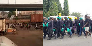 Okada Ban Turns Bloody, Protesters Run For Their Lives As Lagos Police Shoot