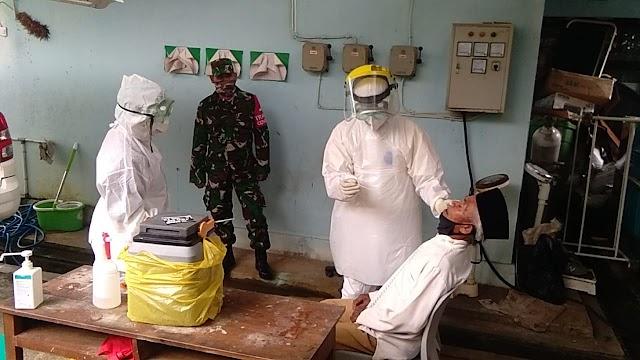 Babinsa Pantau Langsung Pelaksanaan Test Sweb di Desa Binaan