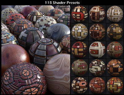 DG Iray Deco Wood Shaders