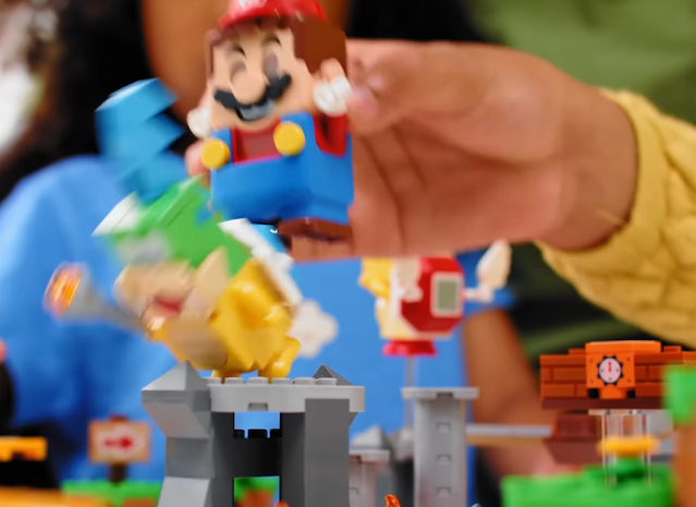 LEGO Super Mario versus Larry Koopa kick tower Master Your Adventure Maker Set