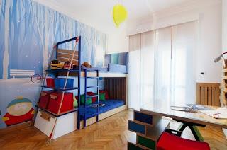 habitación infantil con mural