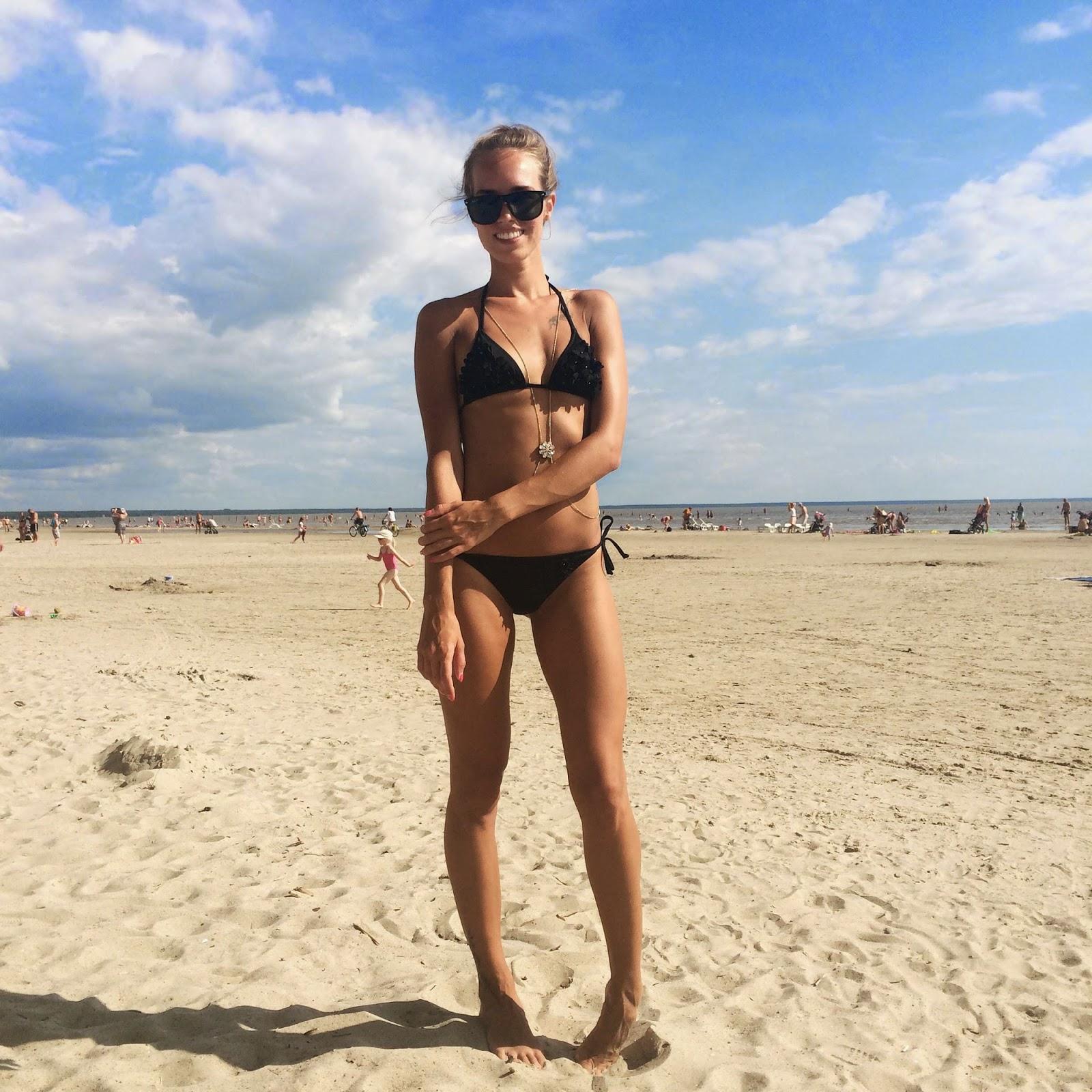 hm blck bikini river island body chain