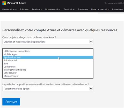 Azure Cloud - Personnalisation du compte