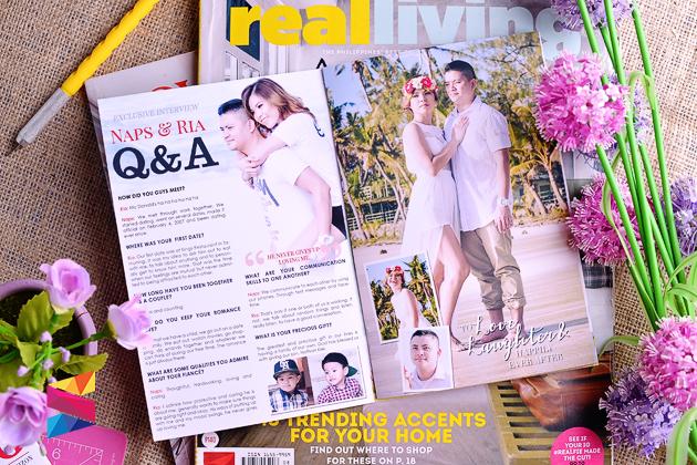 Ria Naps Magazine Style Wedding Invitation