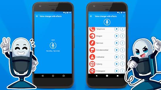 تحميل أفظل تطبيق مغير الصوت Voice changer with effects لهواتف Android