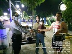 Patroli BLP Polsek Batang Kota Imbau Warga Dan Bagikan Masker