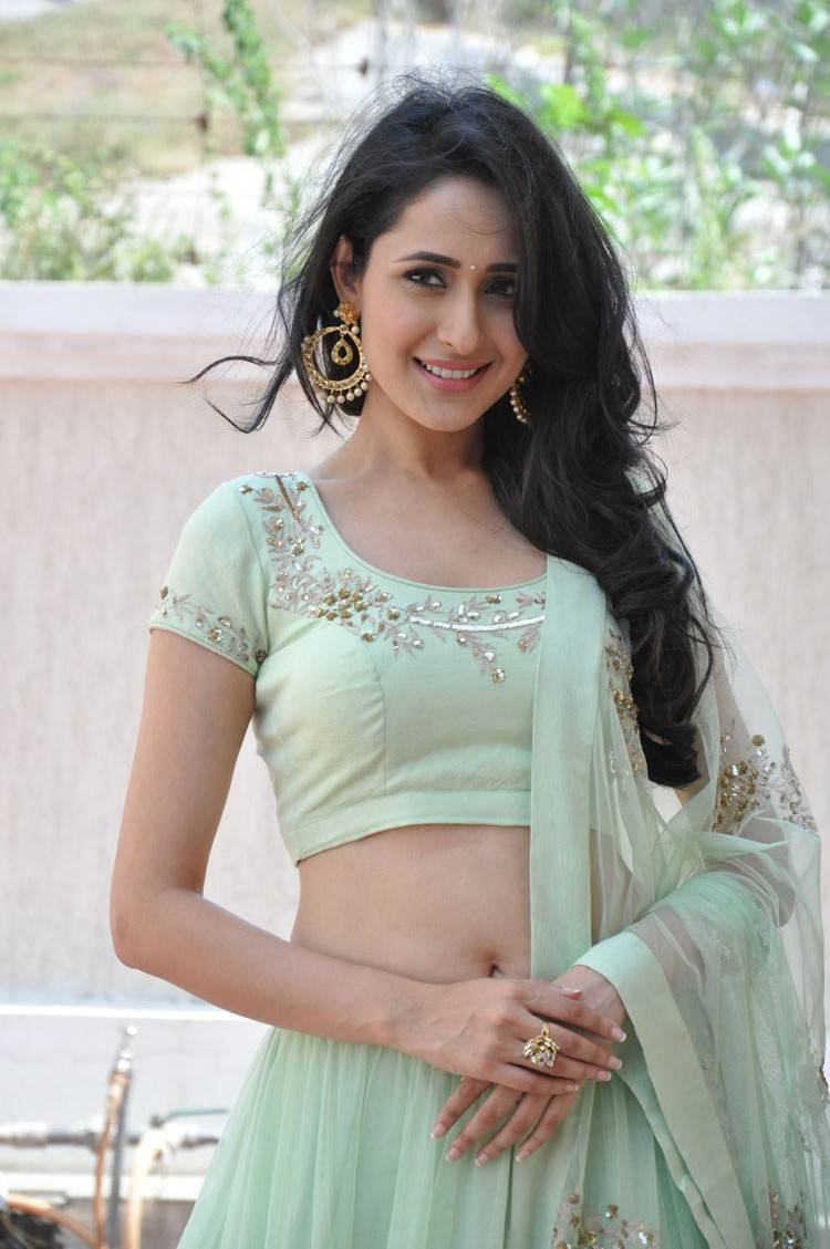 Pragya Jaiswal Navel Show Stills At Kanche Movie