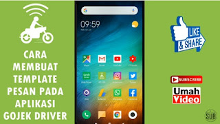 Cara Membuat Template Pesan pada Aplikasi Gojek Driver