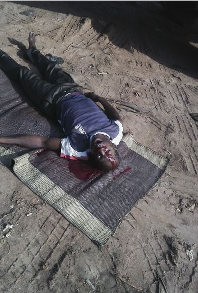 Horror!!! Man Crushed to Death by Lorry in Broad Daylight While Sleeping Under It (Graphic Photo)
