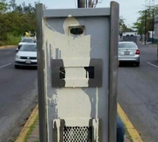 Atacan otra cámara de fotomulta de Autotraffic en Veracruz