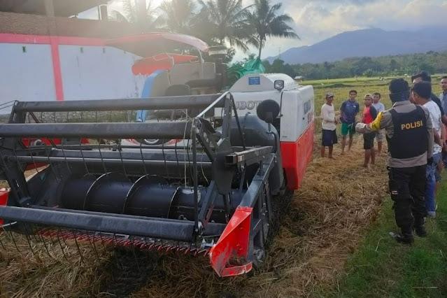 Terlindas mobil panen padi, remaja 14 tahun meninggal di tempat
